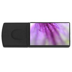 Purple Flower Pedal Usb Flash Drive Rectangular (4 Gb)  by timelessartoncanvas