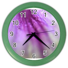 Purple Flower Pedal Color Wall Clocks