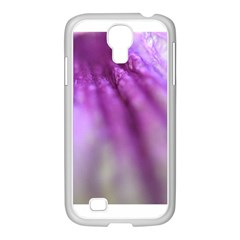 Purple Flower Pedal Samsung Galaxy S4 I9500/ I9505 Case (white) by timelessartoncanvas