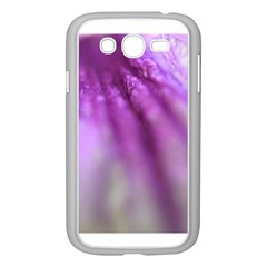 Purple Flower Pedal Samsung Galaxy Grand Duos I9082 Case (white) by timelessartoncanvas