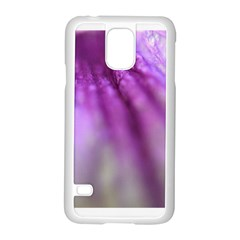 Purple Flower Pedal Samsung Galaxy S5 Case (white) by timelessartoncanvas