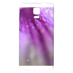 Purple Flower Pedal Galaxy Note 4 Back Case by timelessartoncanvas