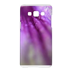 Purple Flower Pedal Samsung Galaxy A5 Hardshell Case  by timelessartoncanvas