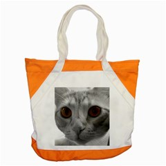 Funny Cat Accent Tote Bag  by timelessartoncanvas
