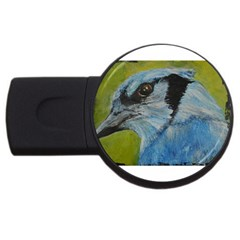 Blue Jay Usb Flash Drive Round (4 Gb)  by timelessartoncanvas