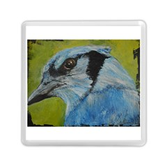 Blue Jay Memory Card Reader (square)  by timelessartoncanvas