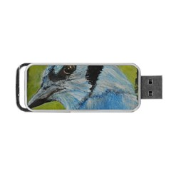 Blue Jay Portable Usb Flash (two Sides) by timelessartoncanvas