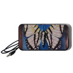 Butterfly Portable Speaker (black)  by timelessartoncanvas