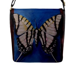 Butterfly Flap Messenger Bag (l)  by timelessartoncanvas