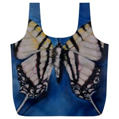 Butterfly Full Print Recycle Bags (l)  by timelessartoncanvas