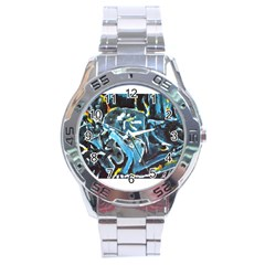Man And Woman Stainless Steel Men s Watch by timelessartoncanvas