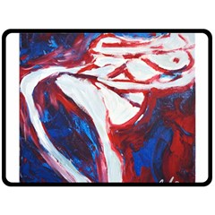 Sensual Double Sided Fleece Blanket (large)  by timelessartoncanvas
