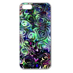 Colour Play Flowers Apple Seamless Iphone 5 Case (clear) by InsanityExpressed