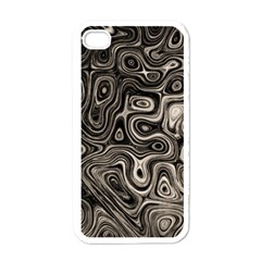 Tile Reflections Alien Skin Dark Apple Iphone 4 Case (white) by InsanityExpressed