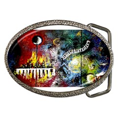 Abstract Music Painting Belt Buckles