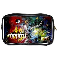 Abstract Music Painting Toiletries Bags by timelessartoncanvas