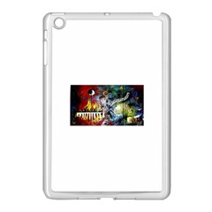 Abstract Music Painting Apple Ipad Mini Case (white) by timelessartoncanvas