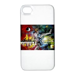 Abstract Music Painting Apple Iphone 4/4s Hardshell Case With Stand by timelessartoncanvas