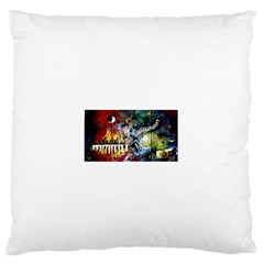 Abstract Music Painting Large Flano Cushion Cases (one Side)