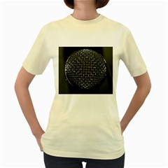 Modern Microphone Women s Yellow T-shirt by timelessartoncanvas