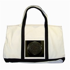 Modern Microphone Two Tone Tote Bag  by timelessartoncanvas