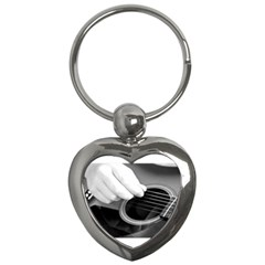 Guitar Player Key Chains (heart)  by timelessartoncanvas