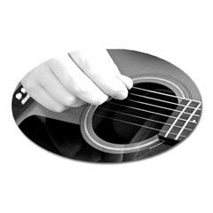Guitar Player Oval Magnet by timelessartoncanvas