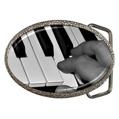 The Piano Player Belt Buckles by timelessartoncanvas