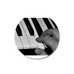 The Piano Player Magnet 3  (round)