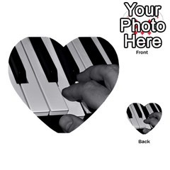 The Piano Player Multi Purpose Cards (heart)  by timelessartoncanvas