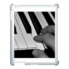 The Piano Player Apple Ipad 3/4 Case (white) by timelessartoncanvas