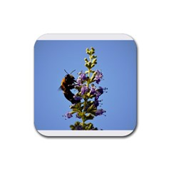 Bumble Bee 1 Rubber Square Coaster (4 Pack)