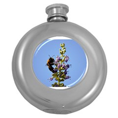 Bumble Bee 1 Round Hip Flask (5 Oz) by timelessartoncanvas