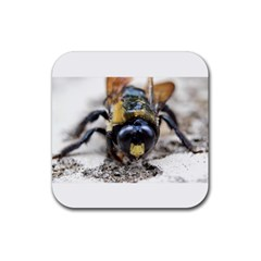 Bumble Bee 2 Rubber Coaster (square)  by timelessartoncanvas