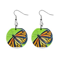 Butterfly 2 Mini Button Earrings by timelessartoncanvas