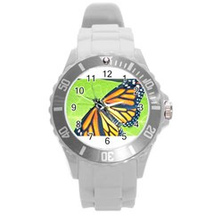Butterfly 2 Round Plastic Sport Watch (l)
