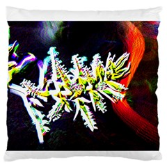 Digitally Enhanced Flower Large Flano Cushion Cases (one Side)  by timelessartoncanvas