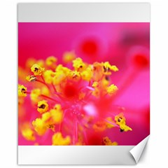 Bright Pink Hibiscus Canvas 16  X 20   by timelessartoncanvas