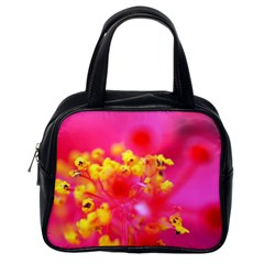 Bright Pink Hibiscus Classic Handbags (one Side) by timelessartoncanvas