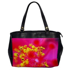 Bright Pink Hibiscus Office Handbags by timelessartoncanvas