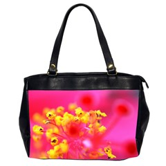 Bright Pink Hibiscus Office Handbags (2 Sides)  by timelessartoncanvas