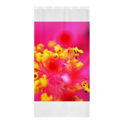 Bright Pink Hibiscus Shower Curtain 36  X 72  (stall)  by timelessartoncanvas