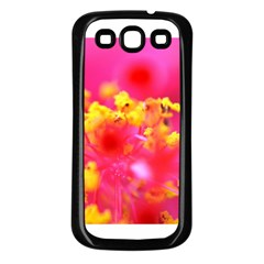 Bright Pink Hibiscus Samsung Galaxy S3 Back Case (black) by timelessartoncanvas