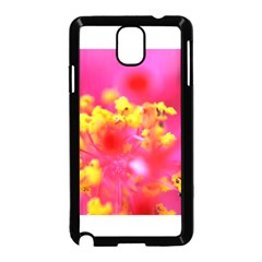 Bright Pink Hibiscus Samsung Galaxy Note 3 Neo Hardshell Case (black) by timelessartoncanvas