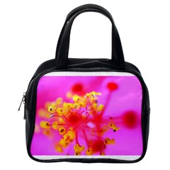Bright Pink Hibiscus 2 Classic Handbags (one Side) by timelessartoncanvas