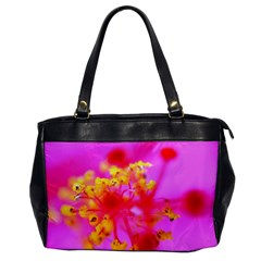 Bright Pink Hibiscus 2 Office Handbags by timelessartoncanvas