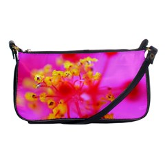 Bright Pink Hibiscus 2 Shoulder Clutch Bags by timelessartoncanvas