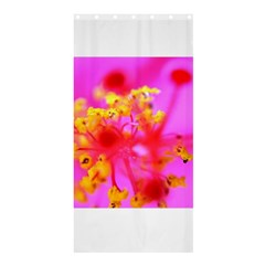 Bright Pink Hibiscus 2 Shower Curtain 36  X 72  (stall)  by timelessartoncanvas