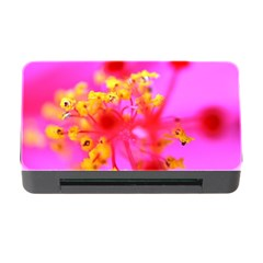 Bright Pink Hibiscus 2 Memory Card Reader With Cf