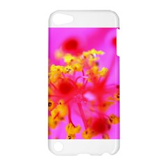 Bright Pink Hibiscus 2 Apple Ipod Touch 5 Hardshell Case by timelessartoncanvas